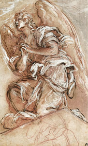 Giuseppe Passeri - Study of a kneeling angel