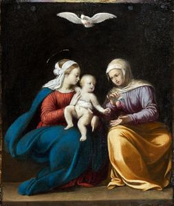 Guy François - The Virgin and Child with Saint Anne