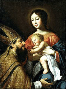 Guy François - Virgin and Child and St Augustine