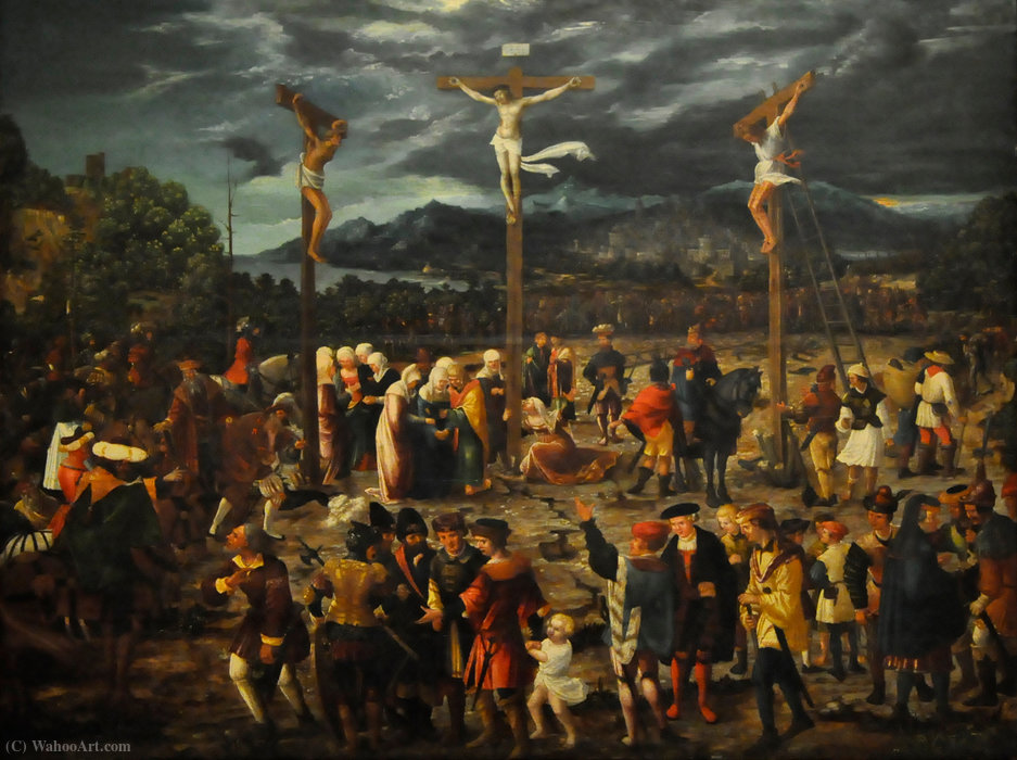 Crucifixion by Hans Mielich (1516-1573, Germany)