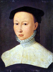 Order Art Reproduction : Portrait of a young lady by Hans Mielich (1516-1573, Germany) | WahooArt.com