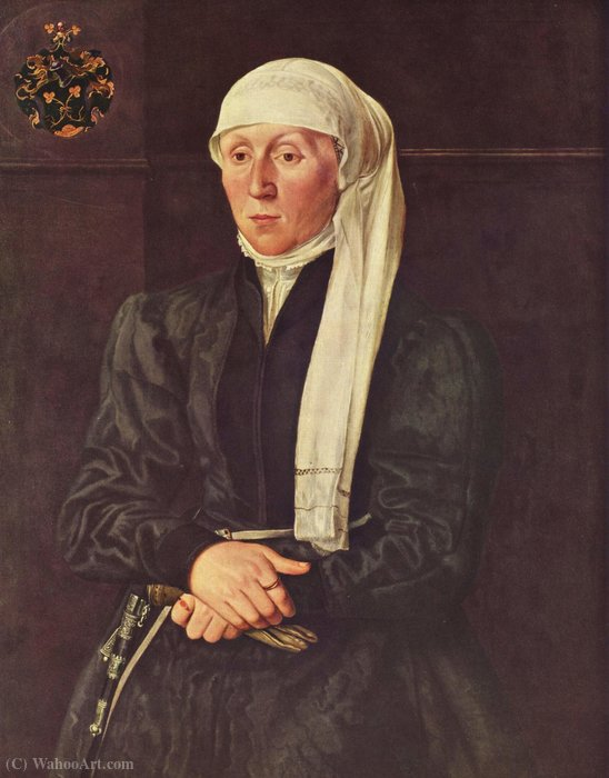 Buy Art Reproduction Portrait of woman Tucher by Hans Mielich (1516-1573, Germany) | WahooArt.com | Order Painting Copy Portrait of woman Tucher by Hans Mielich (1516-1573, Germany) | WahooArt.com