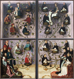 Hans Holbein The Elder - Exterior Wings of the Frankfurt Dominican Altarpiece