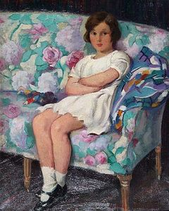 Harry John Pearson - A young girl with