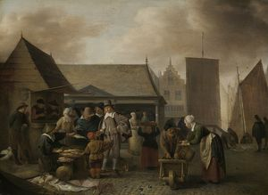 Hendrick Maertensz Sorgh - The fish market