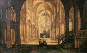 Hendrick Van The Younger Steenwyck - Interior of a Church Looking East