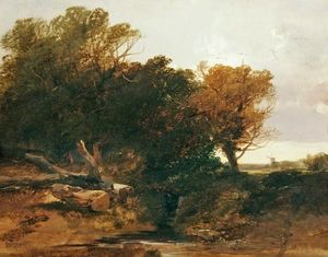 Buy Museum Art Reproductions | Grove scene by Henry Bright (1812-1873, United Kingdom) | WahooArt.com