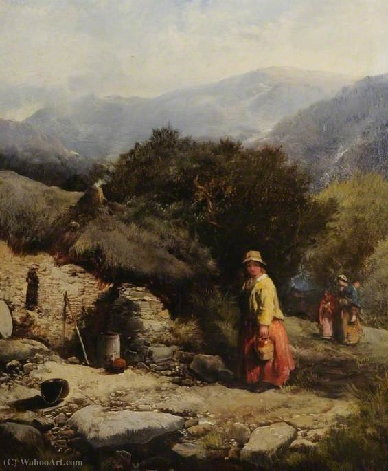 Order Art Reproductions | Landscape with Figures by Henry Bright (1812-1873, United Kingdom) | WahooArt.com