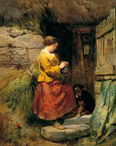 Henry Bright - The cottage door