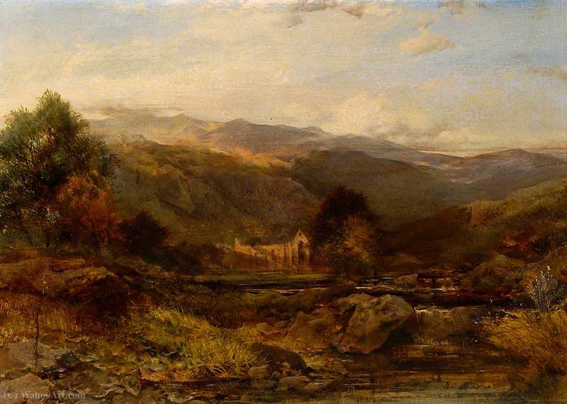 Tintern abbey by Henry Bright (1812-1873, United Kingdom) | Museum Quality Copies Henry Bright | WahooArt.com