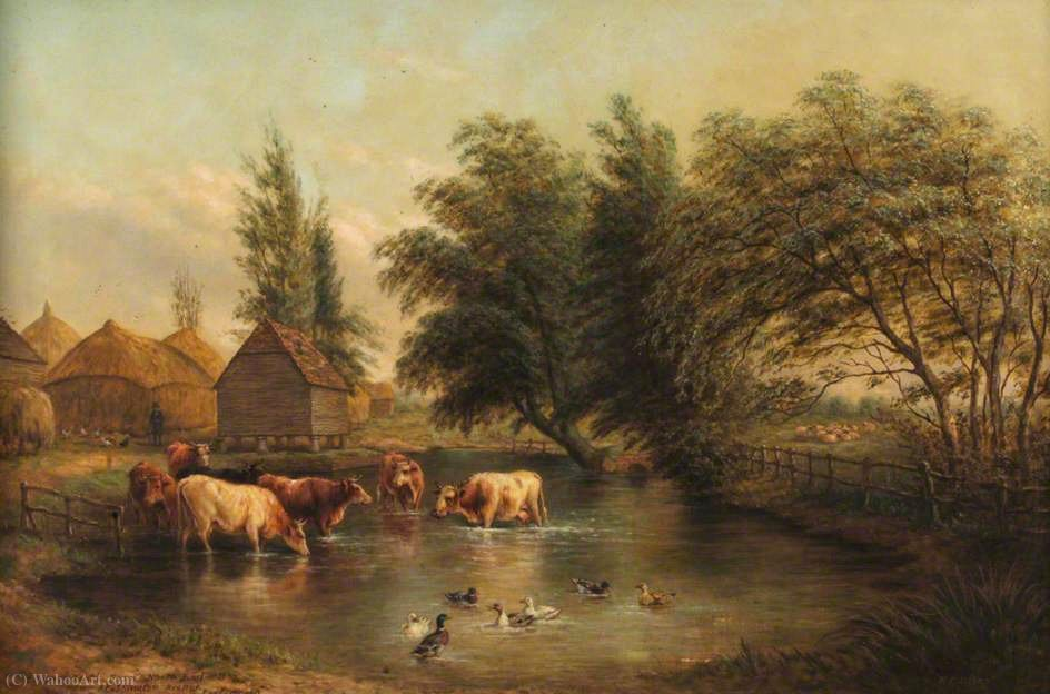 Order Art Reproductions | Farmer kent`s farm, north end by Henry Charles Bryant (1835-1915, United Kingdom) | WahooArt.com