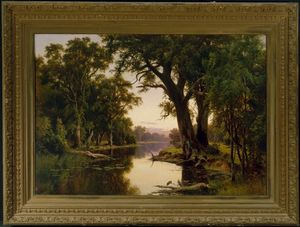 Henry James Johnstone - A billabong of the Goulburn, Victoria
