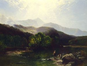 Henry John Boddington - A trout stream, north wales