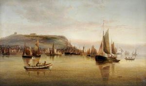 Henry Redmore - Busy Morning at Scarborough, North Yorkshire