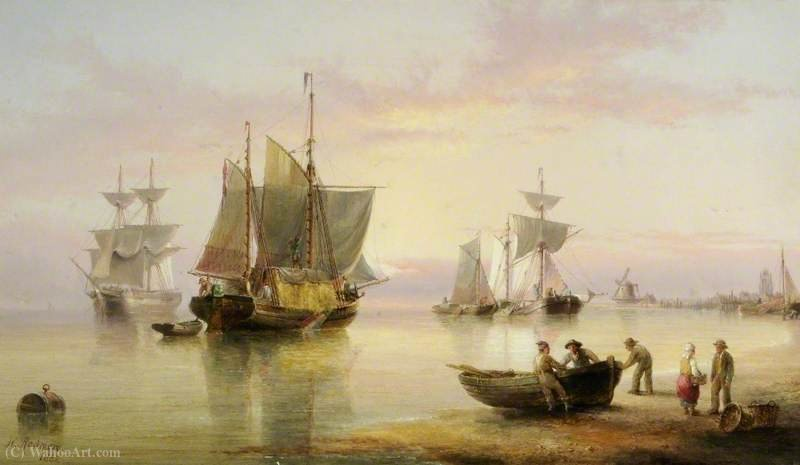 Maritime scene by Henry Redmore (1820-1887, United Kingdom) | Art Reproduction | WahooArt.com