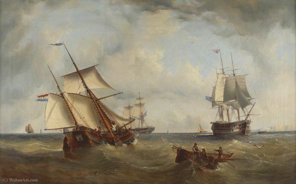 Seascape by Henry Redmore (1820-1887, United Kingdom) | Museum Quality Reproductions | WahooArt.com
