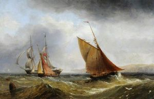Henry Redmore - Ships off the Coast