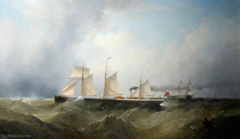 SS `Dagmar` by Henry Redmore (1820-1887, United Kingdom) | Famous Paintings Reproductions | WahooArt.com