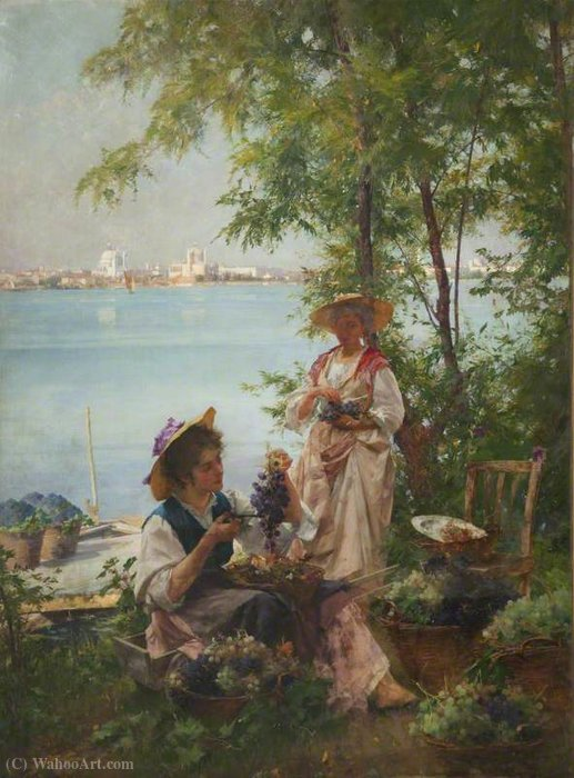 Buy Museum Art Reproductions | A venetian vintage by Henry Woods (1846-1921, United Kingdom) | WahooArt.com