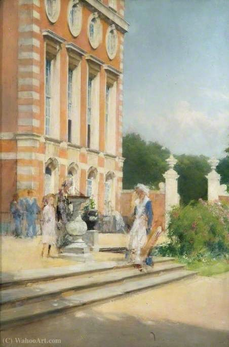 Christopher Wren Wing Hampton Court Palace as a Hospital by Henry Woods (1846-1921, United Kingdom) | Art Reproductions Henry Woods | WahooArt.com