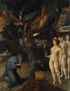 Hieronymus Wellens De Cock - The Temptation of Saint Anthony