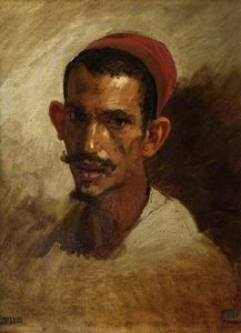 Isidore Alexandre Augustin Pils - Study for the Head of a Young Arab