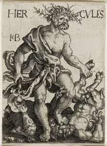 Jacob Binck - Com hercules fighting centaurs