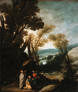 Jacob Symonsz Pynas - Landscape with Christ handing the keys to St. Petru