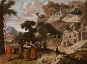 Jacob Symonsz Pynas - Ruth decides with Naomi to Bethlehem to draw