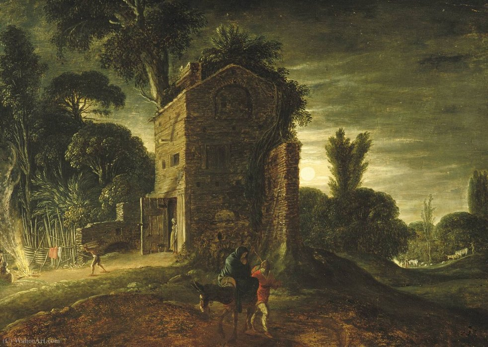 Order Art Reproductions | The Flight into Egypt by Jacob Symonsz Pynas (1583-1631, Netherlands) | WahooArt.com