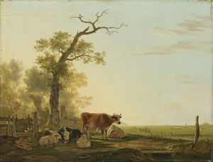 Jacob Van Strij Dordrecht - Pastureland with cattle
