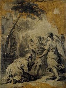 Jacopo Amigoni - Abraham and the three Angels