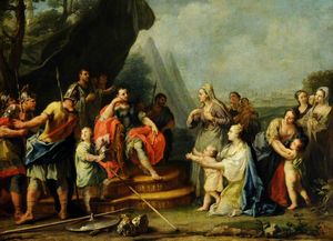 Order Oil Painting : Coriolanus Entreated by His Womenfolk by Jacopo Amigoni (1682-1752, Italy) | WahooArt.com