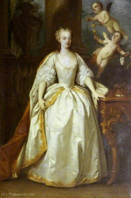 Princess anne by Jacopo Amigoni (1682-1752, Italy) | Famous Paintings Reproductions | WahooArt.com