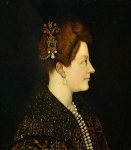 Order Art Reproduction : Portrait of Maria de` Medici by Jacopo Da Empoli (1551-1640, Italy) | WahooArt.com