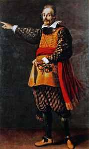 Jacopo Da Empoli - Portrait painting of the Italian commedia dell-arte actor Francesco Andreini in the costume of Capitano