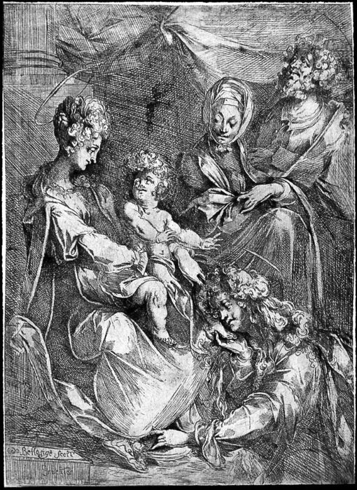 Order Reproductions | he Virgin and Child with the Magdalen and Saint Anne by Jacques Bellange (1575-1616, France) | WahooArt.com