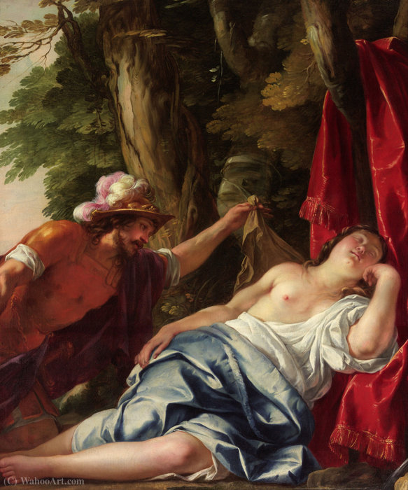 Mars and the vestal virgin by Jacques Blanchard (1600-1638, France) | Reproductions Jacques Blanchard | WahooArt.com