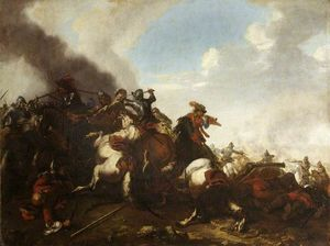 Jacques Courtois - A battle scene