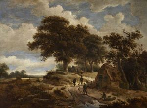 Jacques D' Arthois - Landscape with Figures