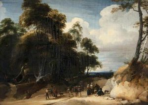 Jacques D- Arthois - Peasants at the Edge of a Forest