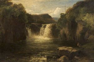 James Burrell Smith - Waterfall