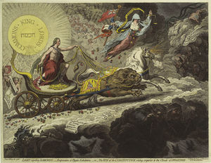 James Gillray - Light expelling darkness