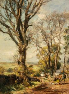James Lawton Wingate - Ash Trees in Spring