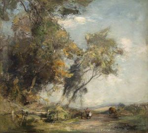 James Lawton Wingate - Landscape with Trees and Children