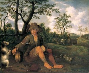 Jan Baptist Weenix - The Tinker and His Dog