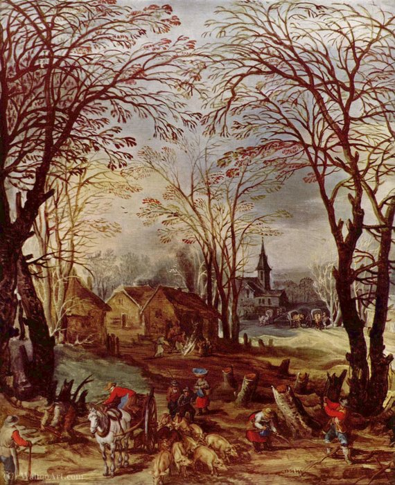 1st third of 17th century by Joos De Momper The Younger (1564-1635) | Famous Paintings Reproductions | WahooArt.com