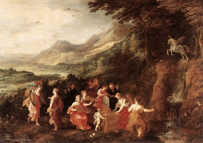 Helicon or Minerva's Visit to the Muses by Joos De Momper The Younger (1564-1635)