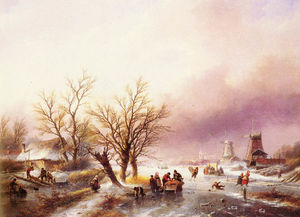 Jan Jacob Spohler - A winter landscape
