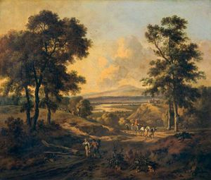 Jan Jansz Wijnants - Landscape with Figures